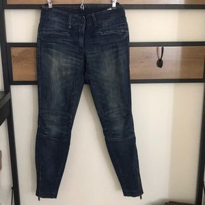 R13 Moto Jeans Size 25 Made in Italy